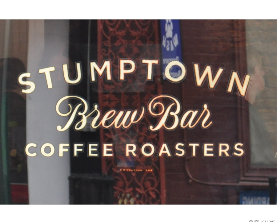 Stumptown's latest outlet on W 8St in New York City, unparalleled elegance in a coffee shop.