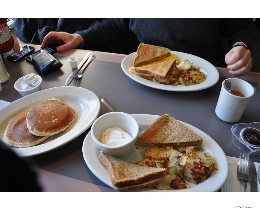 Breakfasts galore with Greg of Coffee GuruApp at Jany's, Philadelphia.
