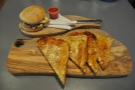 Beautifully presented field mushroom soufflé muffin (with toast) at Birmingham's Saint Kitchen