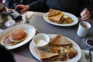 Breakfasts galore with Greg of Coffee GuruApp at Jany's, Philadelphia.