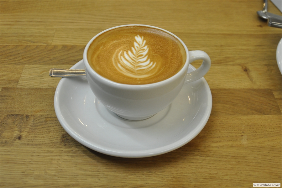 To finish things off, a (decaf) flat white...
