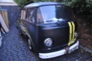 Sitting outside The Warehouse is Steampunk's origins, one of the VW Camper Vans.