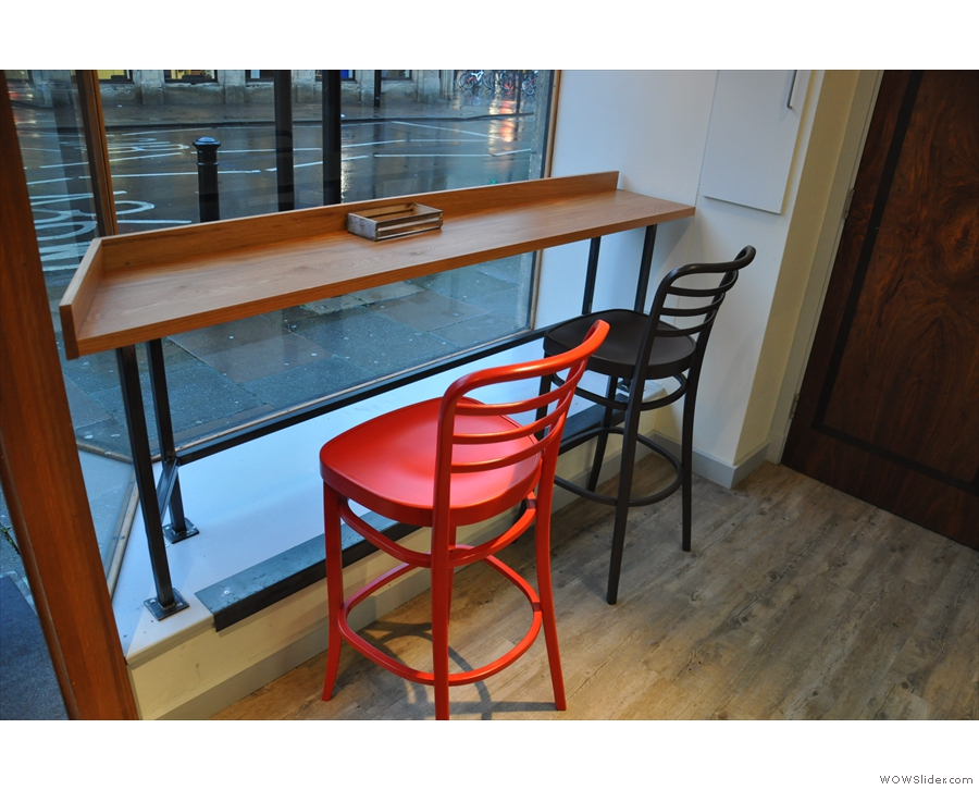 Immediately to your left as you come in is this window bar...