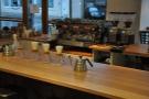 Chemex and espresso machine wait in anticipation.