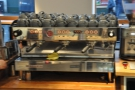 Since I'm around the back of the counter: the business end of the espresso machine...