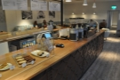 Okay, to business. A view down the counter.