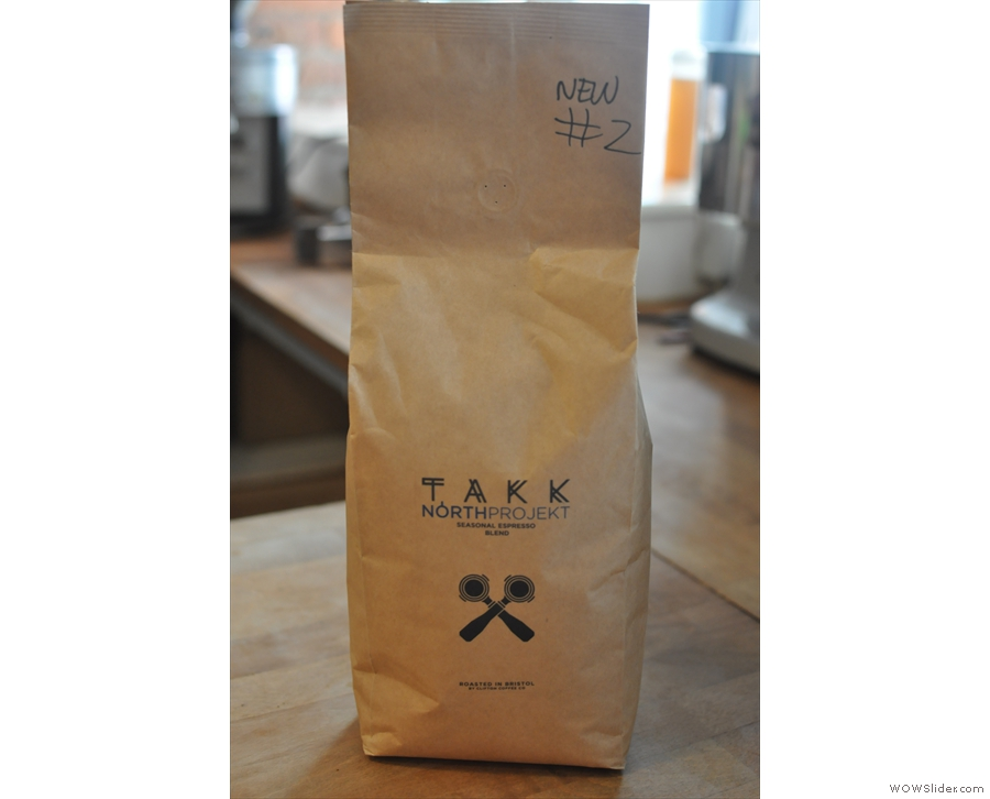 TAKK's very own seasonal espresso blend, North Projekt.