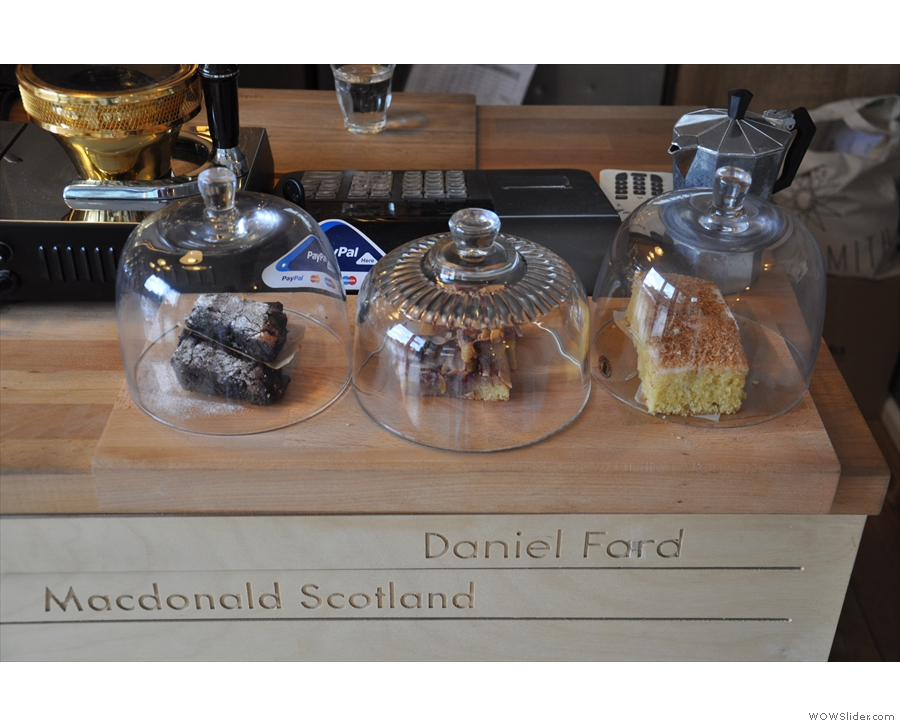 There's also an interesting range of cake which Daniel Ford seems to have laid claim to...