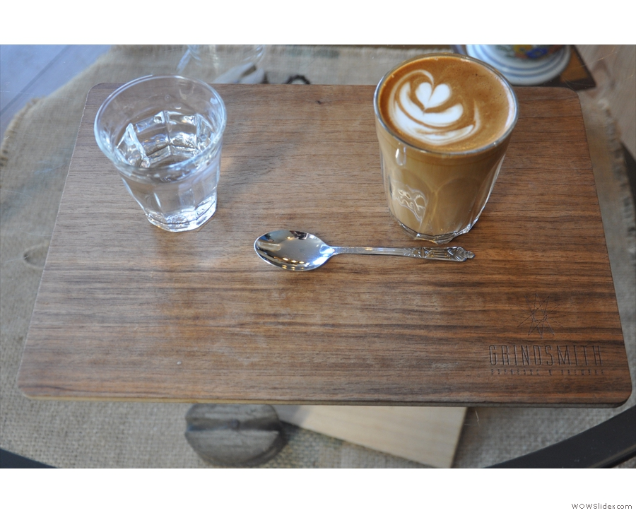 On my return, I had the Barnraiser as a flat white. I love the trays by the way.