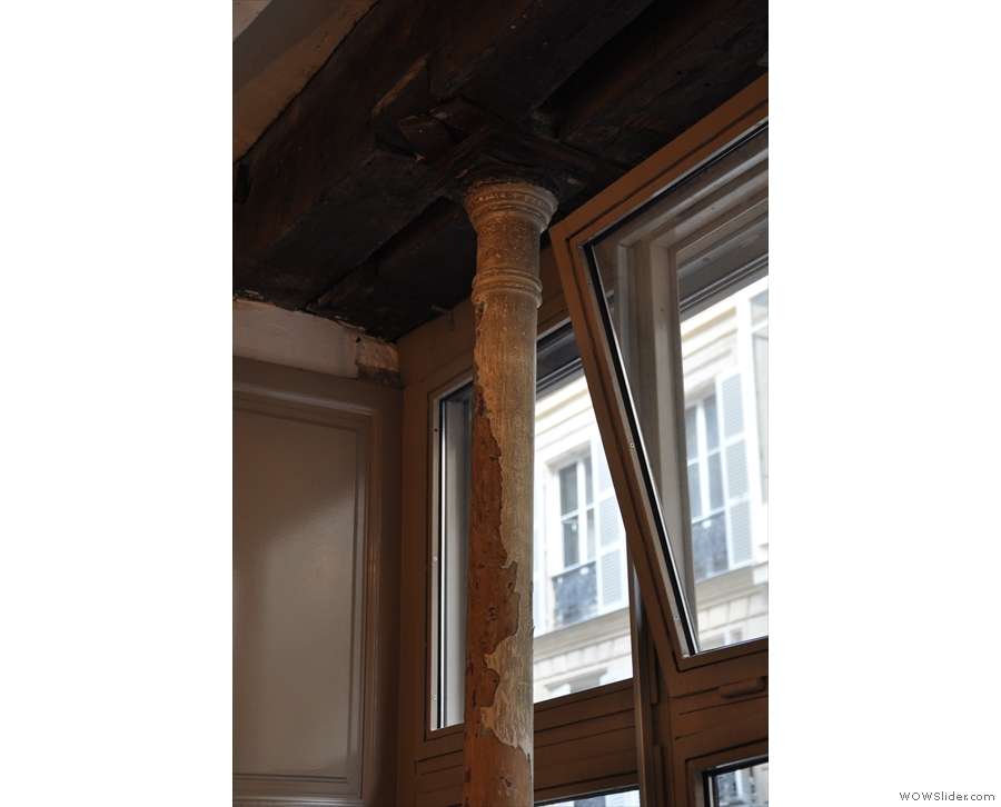 Telescope occupies a beautiful, old building with lots of great features, such as this pillar.