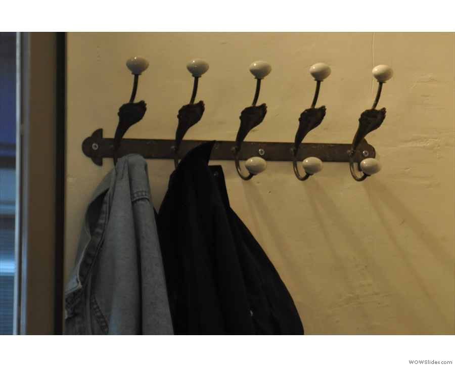 There are also loads of nice touches, such as these coat hooks.