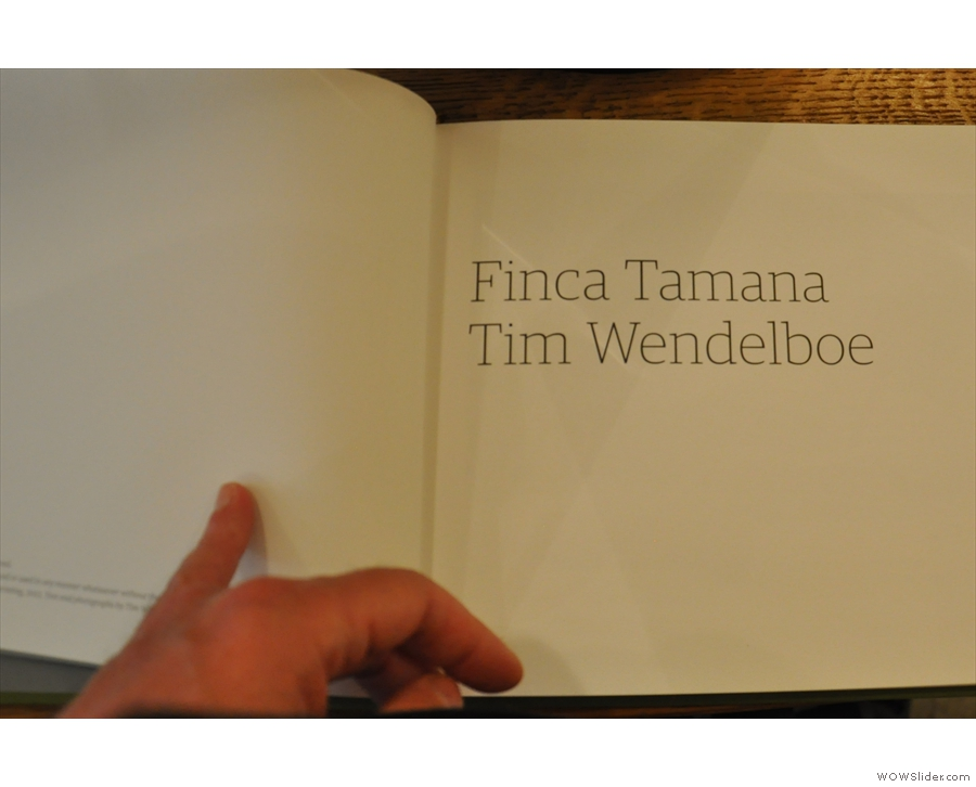 There's also a copy of Tim Wendelbow's book if you need some reading material.
