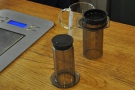 ... in this case an Aeropress of a Kenyan from local roasters Belleville.