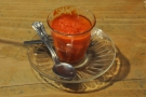 So, to the food. This is the tomato fondue I had. It was surprisingly good!
