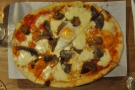 And my favourite,  herbed mushroom and egg, with truffle oil, tomato sauce & mozzarella.