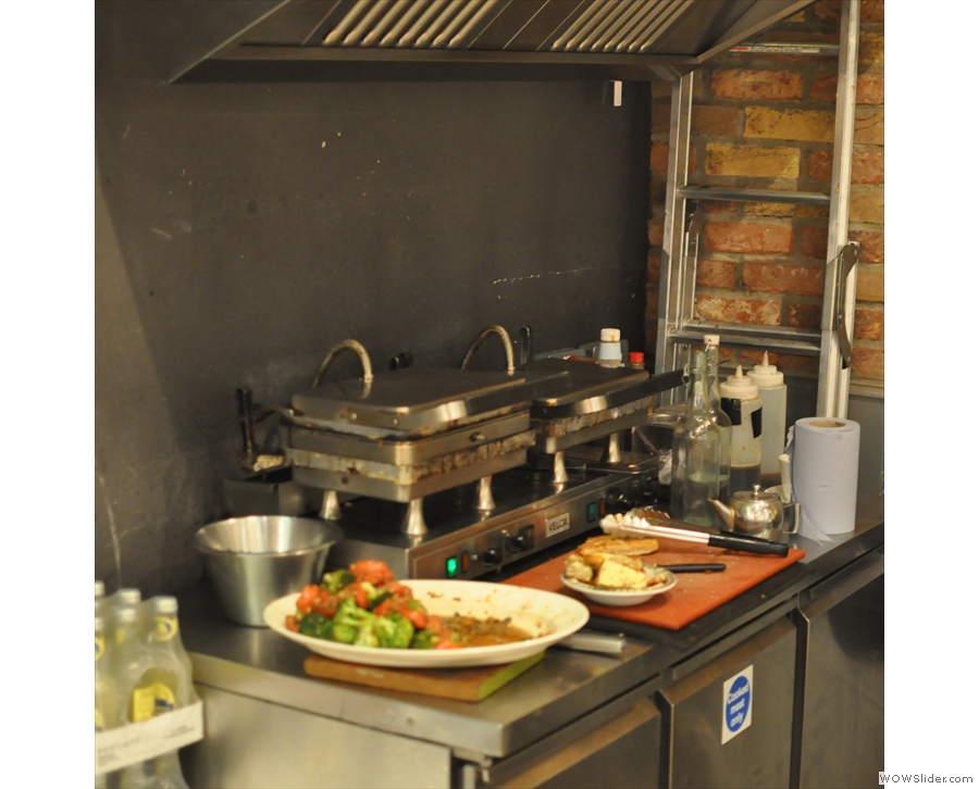 There's also hot food, although these have now been replaced by pizza ovens!