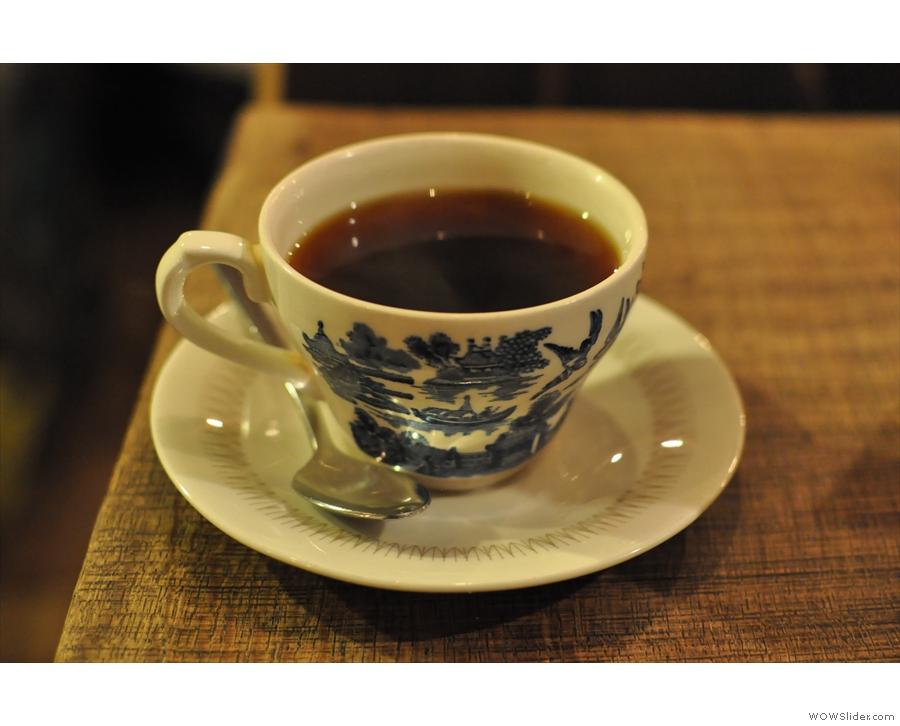 The Finca La Fany from Caravan: pretty cup, excellent coffee.