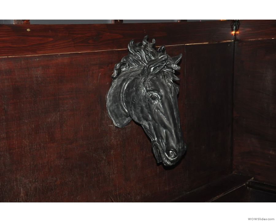 I loved the horse's head on the wall.
