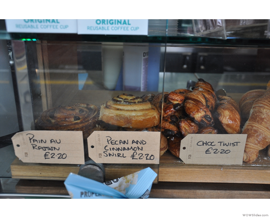 There's plenty of sweet things to tempt you, although it's mostly pastries...