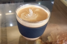 And here's the coffee itself in a flat white. Very tasty too.