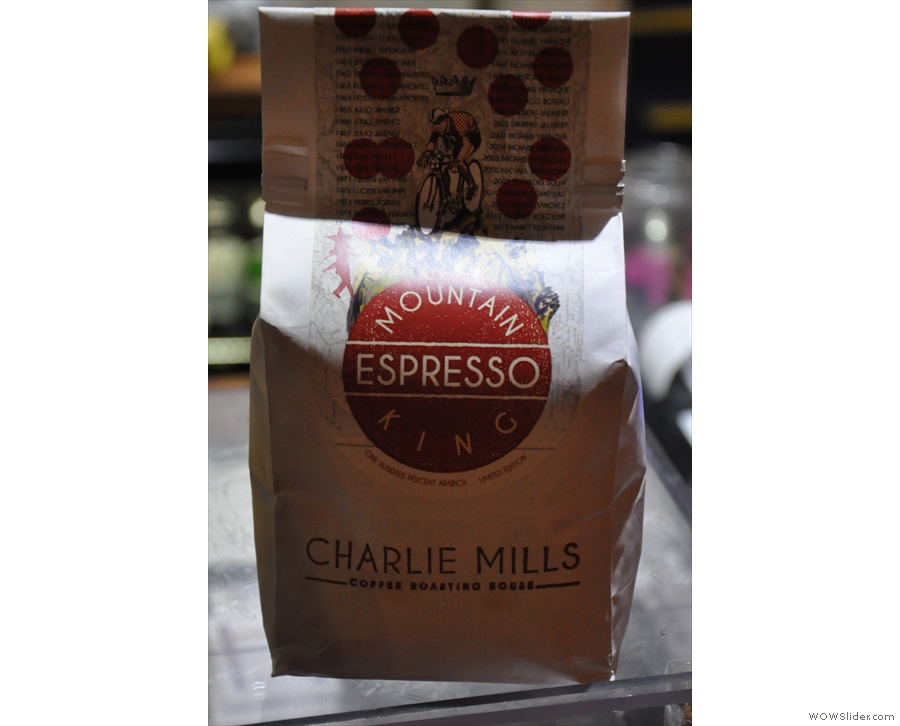 There are also guests from another local roaster, Charlie Mills...