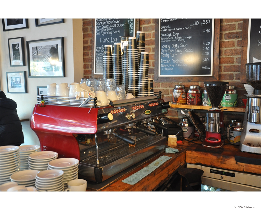 So, what to have? Well, I went with the espresso machine on my first visit (in 2014!)...