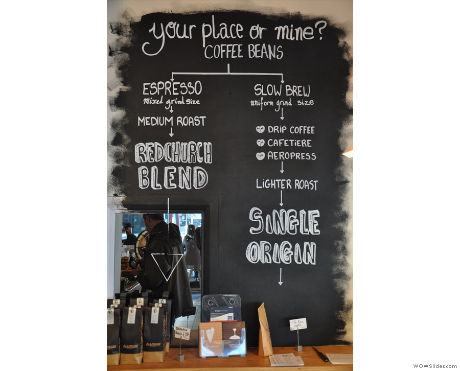 There's aslo a helpful guide. I like the idea of filter as 'slow brew' in contrast to 'espresso'!