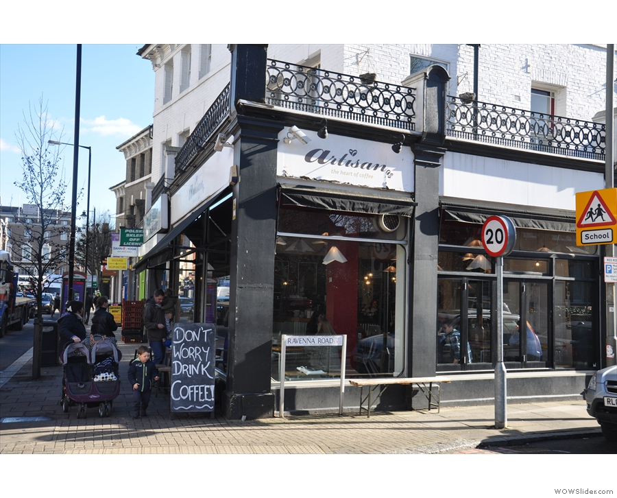The original Artisan in Putney, on the corner of Ravenna Road and Upper Richmond Road.