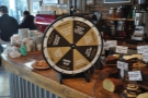 There's also the famous loyalty card wheel. When your stamp is full, spin the wheel!