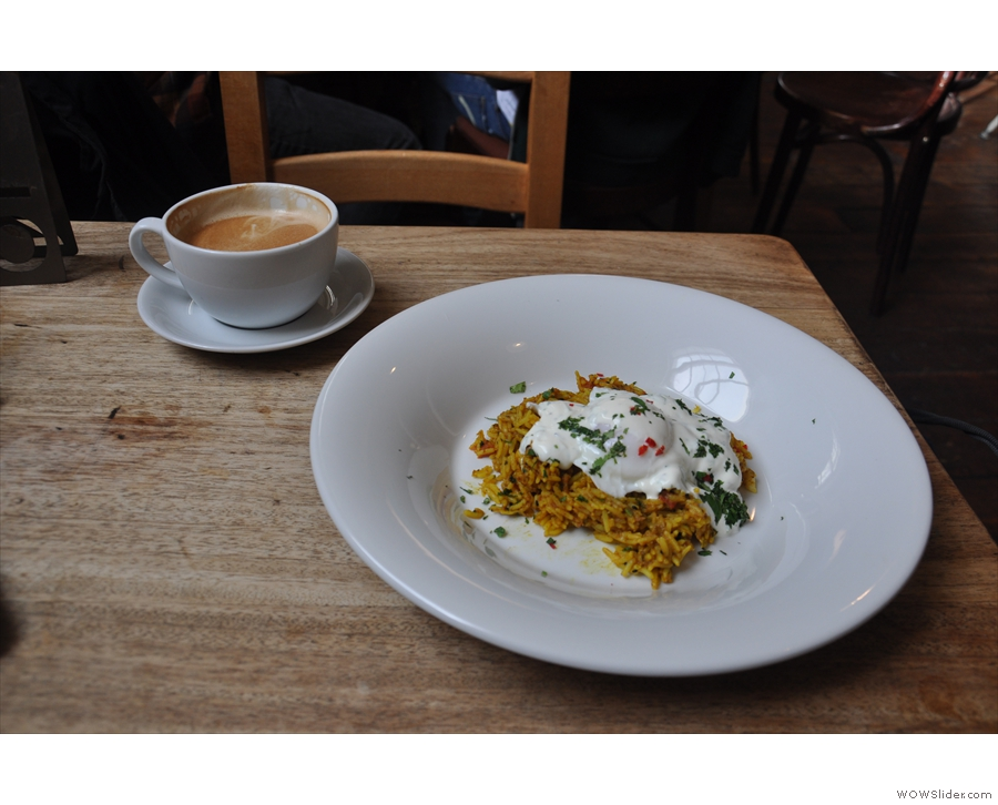 I also tried the Kedgeree: I admit I was a bit skeptical, but it was lovely!