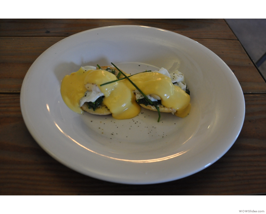 And here it is: Eggs Florentine, my favourite!
