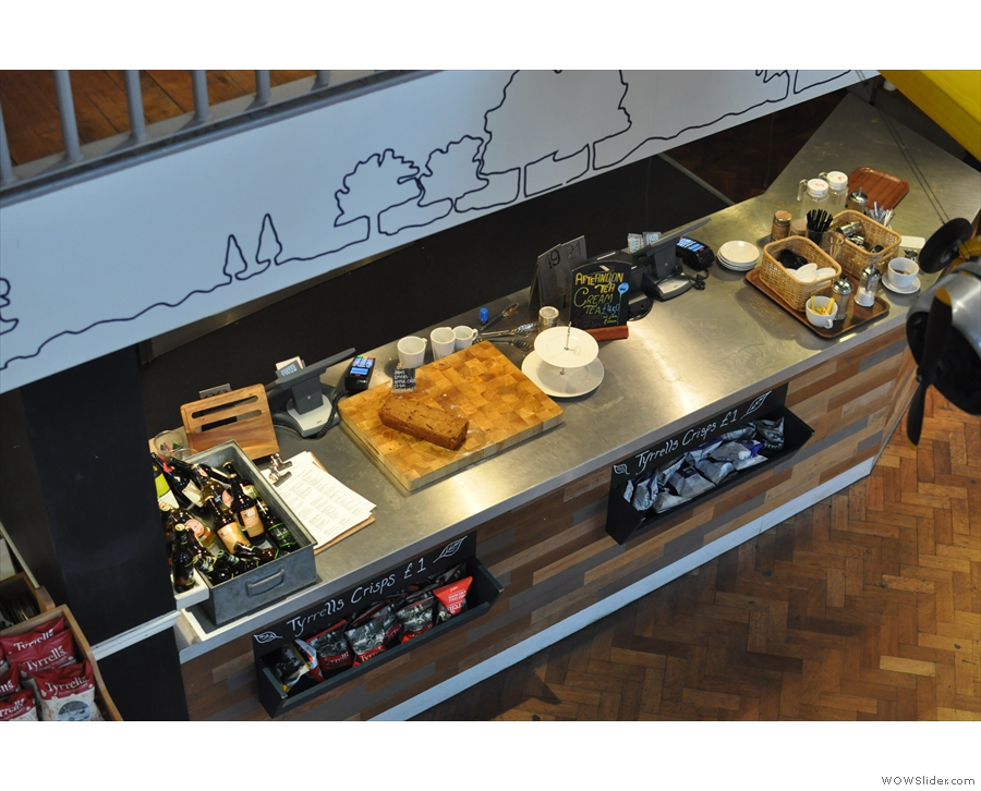 The counter, as seen from above.