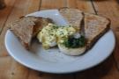 Afternoon tea: eggs florentine!