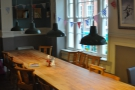 One of the communal tables upstairs.