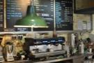 A closer view of the espresso machine....