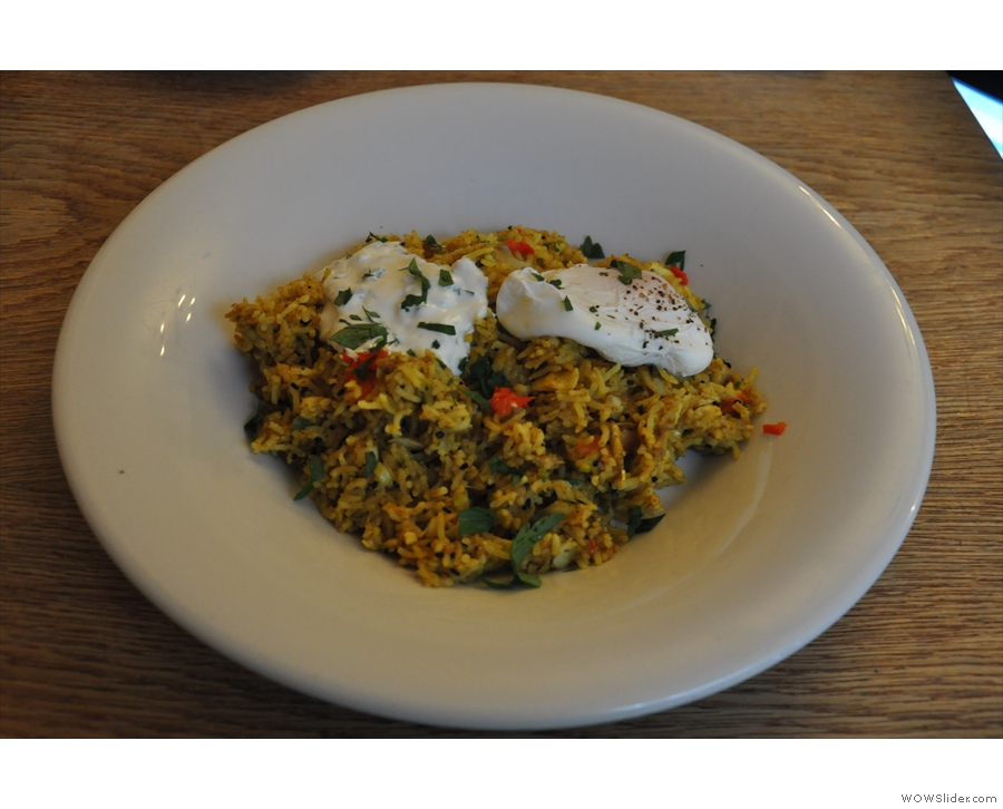 And, breaking with tradition, the Kedgeree for lunch (from the all-day breakfast menu).