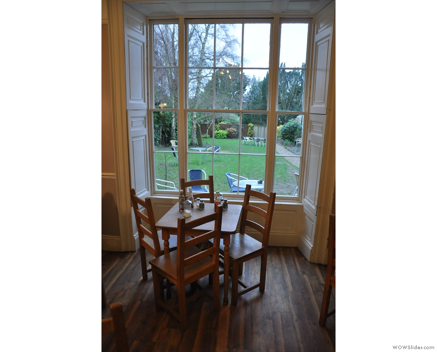 ... while this one, by the bay window, overlooks the garden at the back.