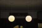 Some of the lights above the counter...