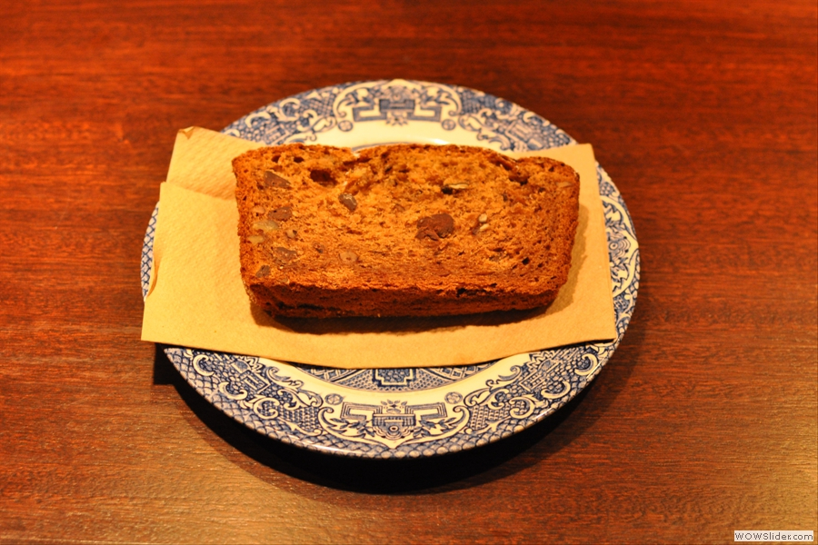 I also had a slice of the banana, chocolate and nut loaf which was lovely