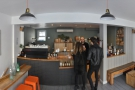 A panoramic view of the counter from just inside the door...