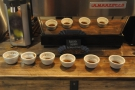 And finally, for comparison, the Burundian coffee up by the espresso machine.