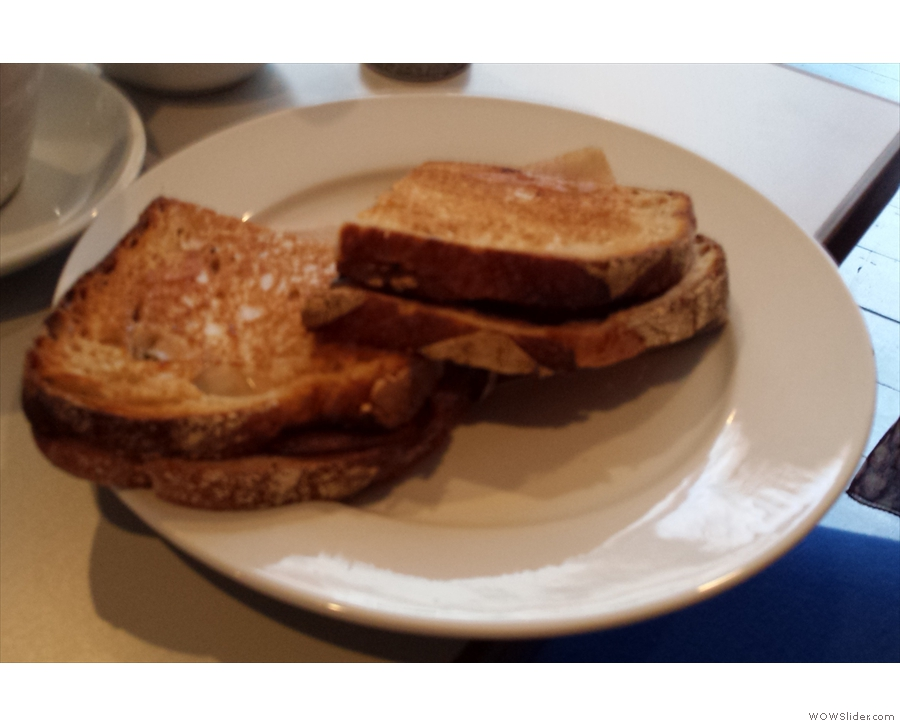 ... and here, a toasted sandwich.