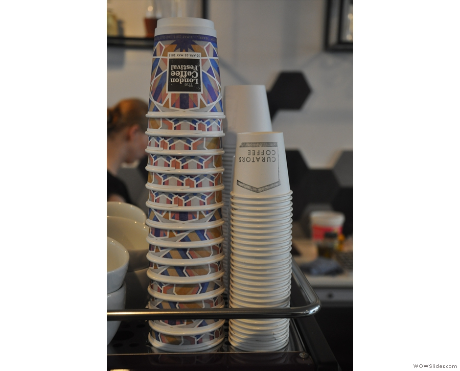 The London Coffee Festival Cups were out in force on my most recent visit.