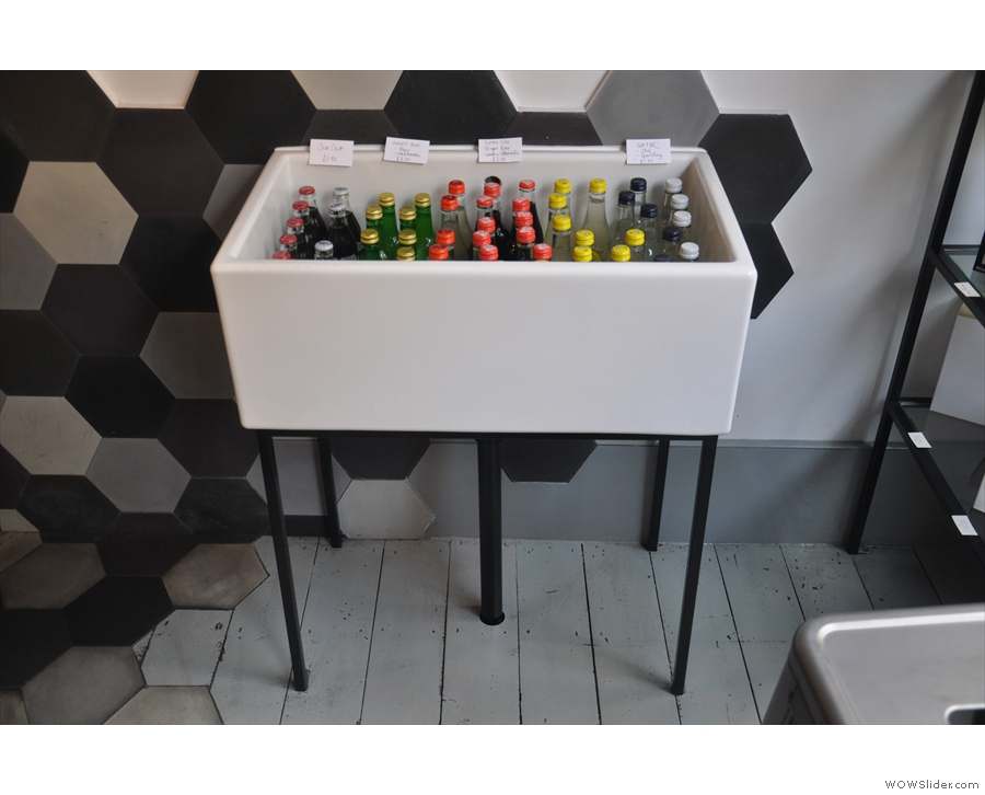 ... while there are soft drinks in this neat sink if that's what takes your fancy.