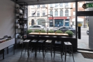 The window-bar, to your right as you come in, makes an excellent people-watching spot.