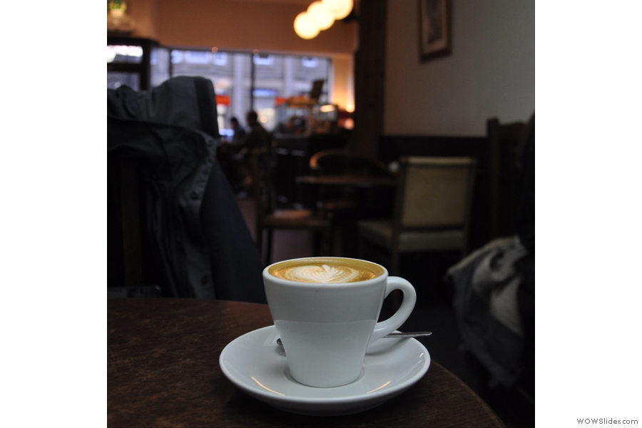 Next stop was Kilimanjaro, home of the excellent flat white! Here it takes in the view from the back of the coffee shop.