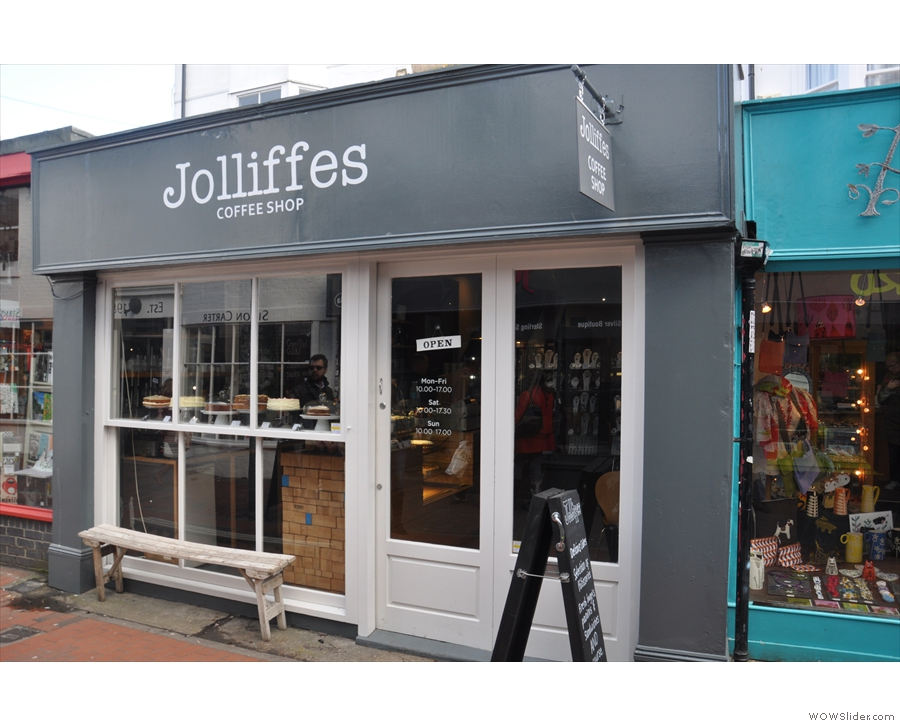 The new-look Jolliffes, resplendent in the spring sunshine...