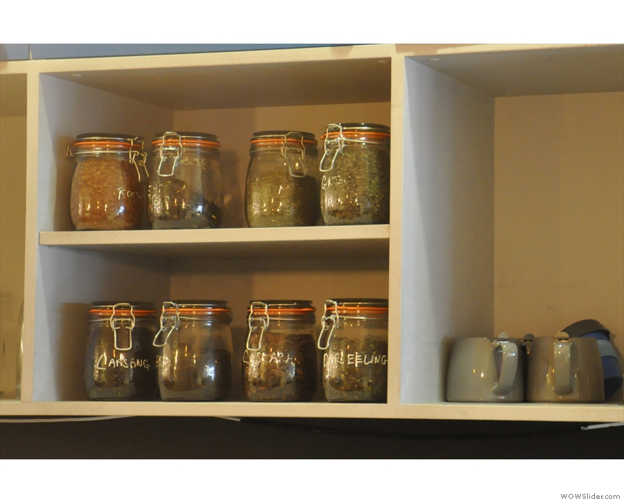There's also a tea shelf.