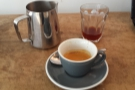 However, this is what I had, the same coffee through Aeropress and as an espresso.