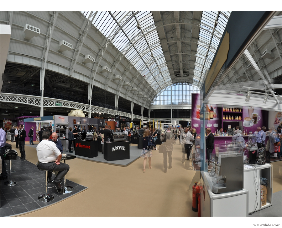 The soaring main hall at Olympia, the home of the Caffè Culture Show.